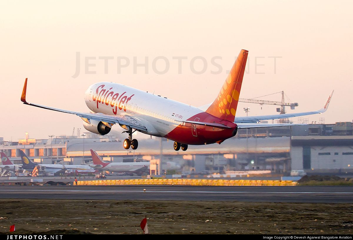 Spicejet A Low Fare Carrier In India Boeing 737 8gj Vt Spj 34897