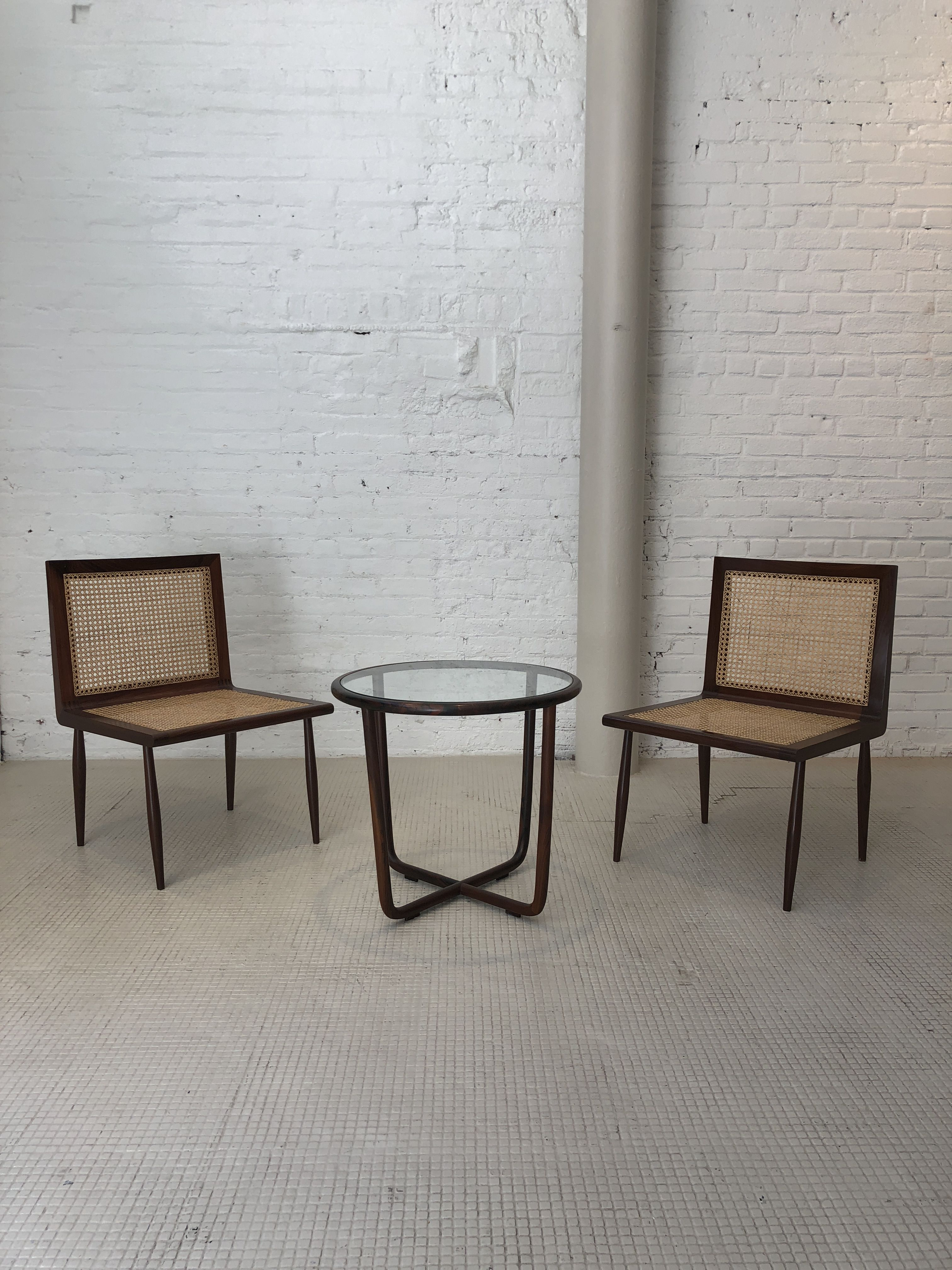 Vintage Low Bedroom chairs by Joaquim Tenreiro available at
