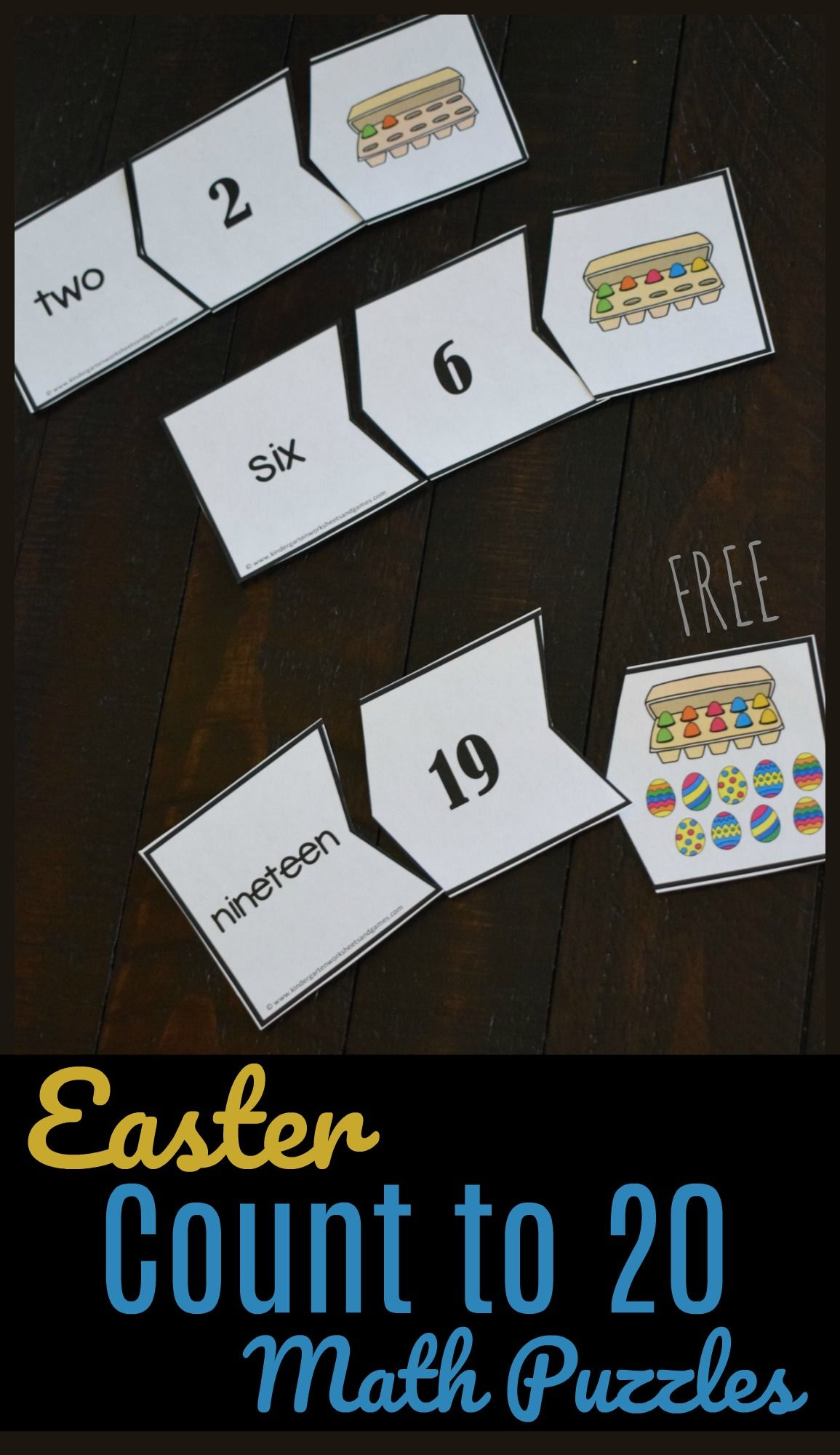 Easter Count To 20 Math Puzzles