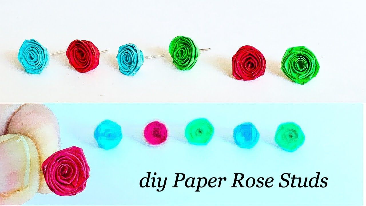 How To Make Small Paper Roses Diy Easy Rolled Paper Roses Quilled