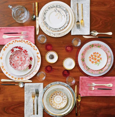 mix and match dinnerware setup from NY Times Clash course & mix and match dinnerware setup from NY Times Clash course | u2022 decor ...