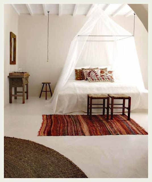 white bed indian interiors Ethnic bedroom, Home