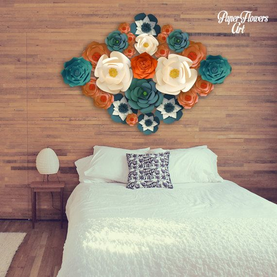 Check out this item in my Etsy shop https://www.etsy.com/listing/270871596/decorative-paper-flower-wall-arrangement