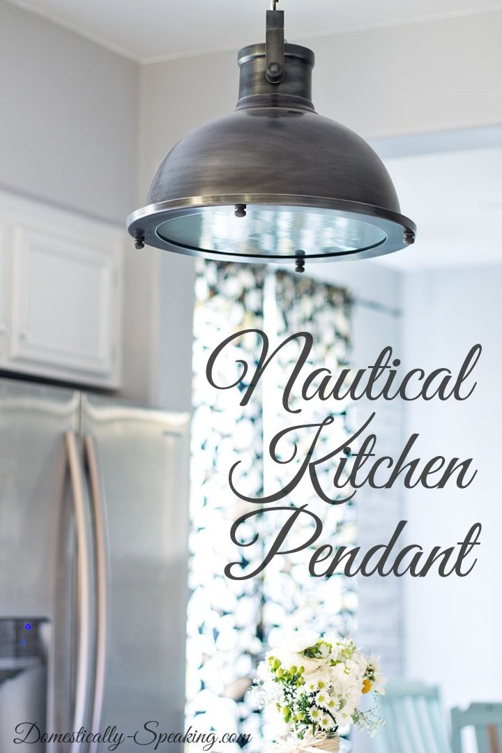 Nautical Pendant Kitchen Light Sets The Tone For Our Classic Beachy Glam Kitchen Makeover Nautical Kitchen Kitchen Pendants Kitchen Pendant Lighting
