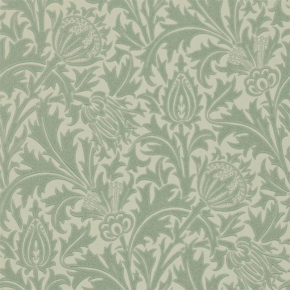Thistle Wallpaper Eggshell/Ivory (DMOWTH105) William