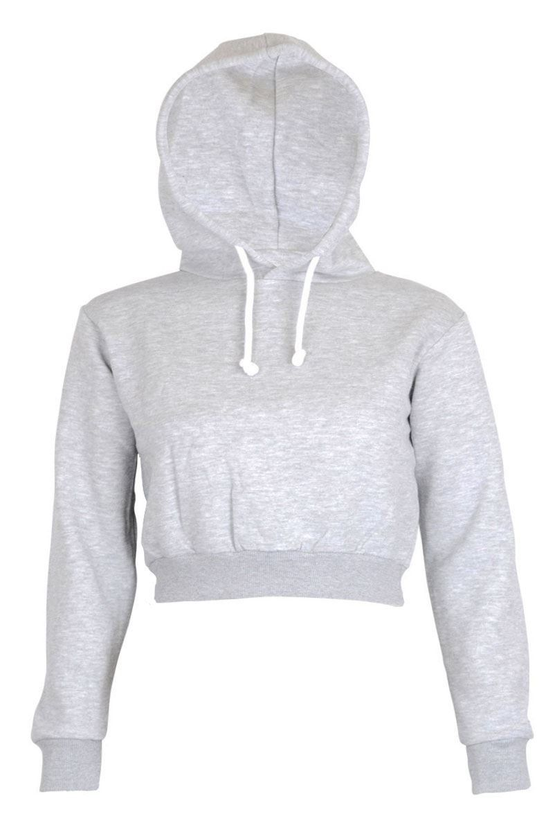 Womens Plain Crop Top Hoodies | Amazon Slouch WANTS | Pinterest