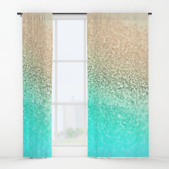 Gold Aqua Window Curtains Aqua Bedrooms Curtain Inspiration Curtains