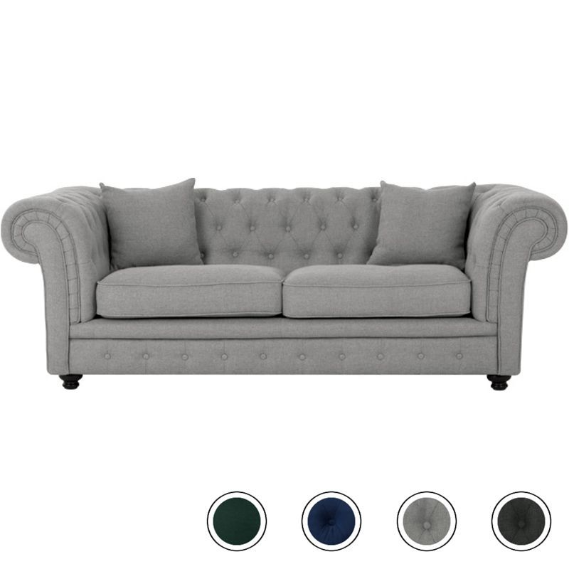 Best Branagh 2 Seater Chesterfield Sofa Pearl Grey In 2020 400 x 300