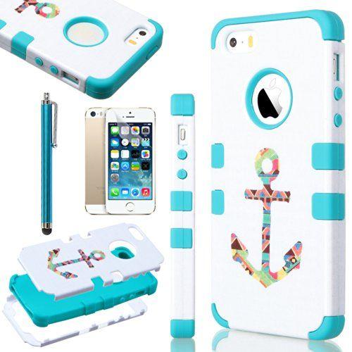 iPhone 5S Case, Pandamimi ULAK(TM) Fashion Pattern Hybrid High ...