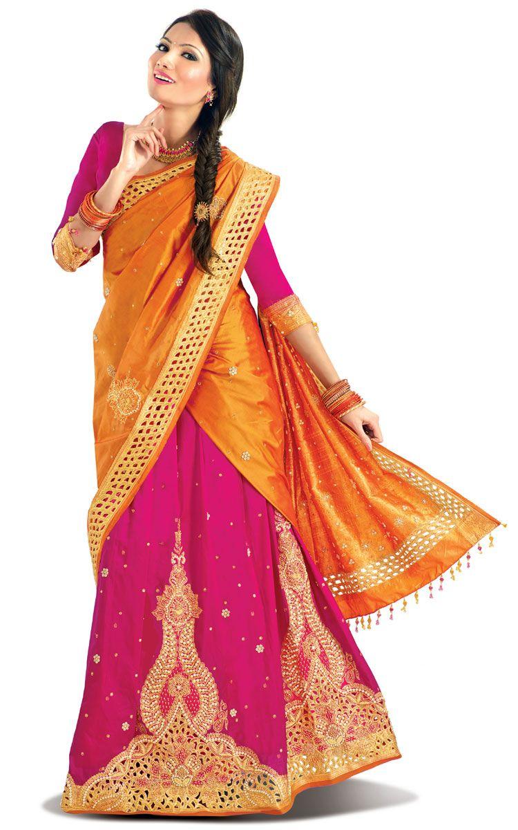 Pattu Pavadai Thavani Lm24 Half Saree Pinterest Half