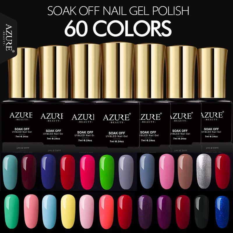 New AZURE BEAUTY 7ML Nail Gel Polish Natural Colors Gel Polish Soak ...