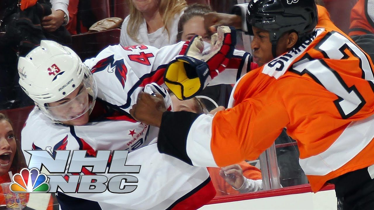 Top 10 NHL fights of all time NBC Sports YouTube