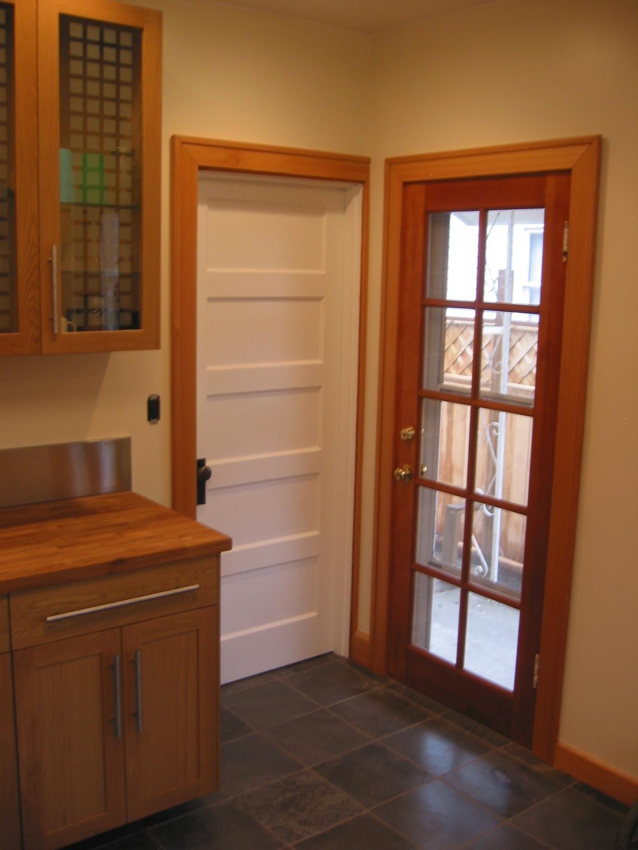 kitchen entry doors oxo utensils glass to backdoor and basement door