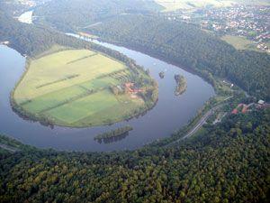 Fulda Fluss in Deutschland Die Fulda, im Oberlauf auch
