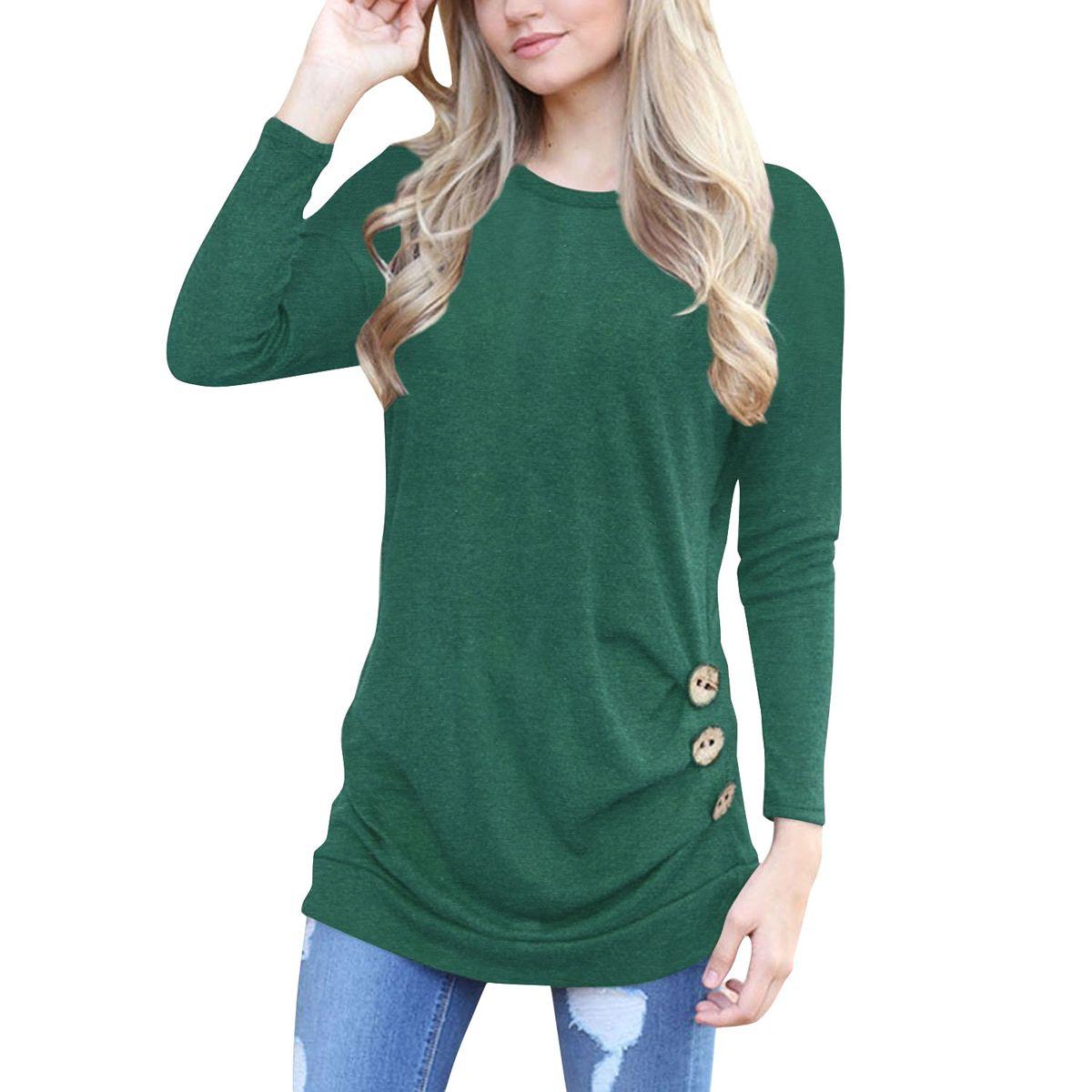 Long Sleeve O Neck Flower Print Casual Slim Women Tshirt Ladies Tops