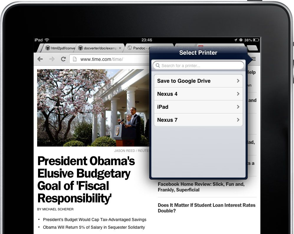 Download Web Pages as PDFs with Chrome for iOS Iphone