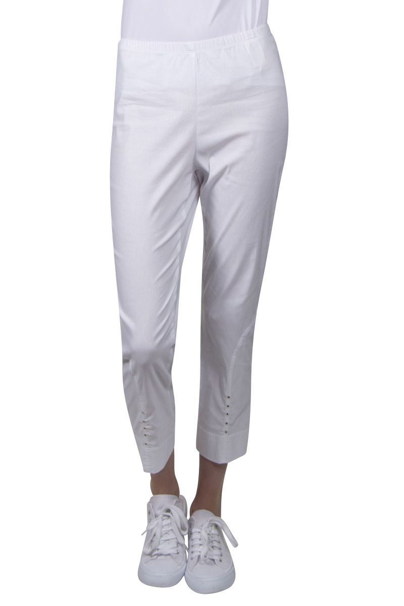 Verge - Eyelet Detail Pant White