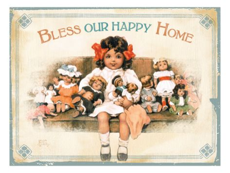 Our Happy HomeBy Bessie Pease Gutmann is part of Happy home Illustration -