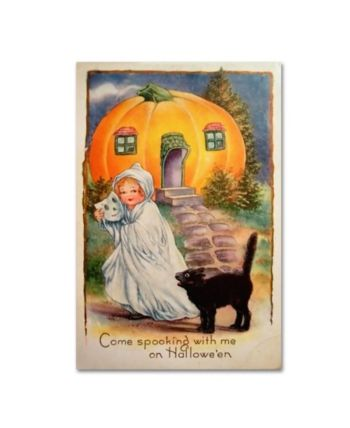 Vintage Apple Collection 'Halloween Come Spooking' Canvas Art - 16  x 24 #nachtvorallerheiligen