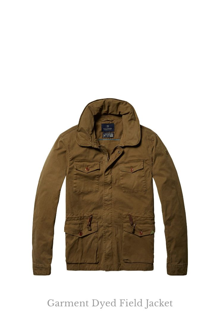 Now available: Garment Dyed Field Jacket Scotch & Soda