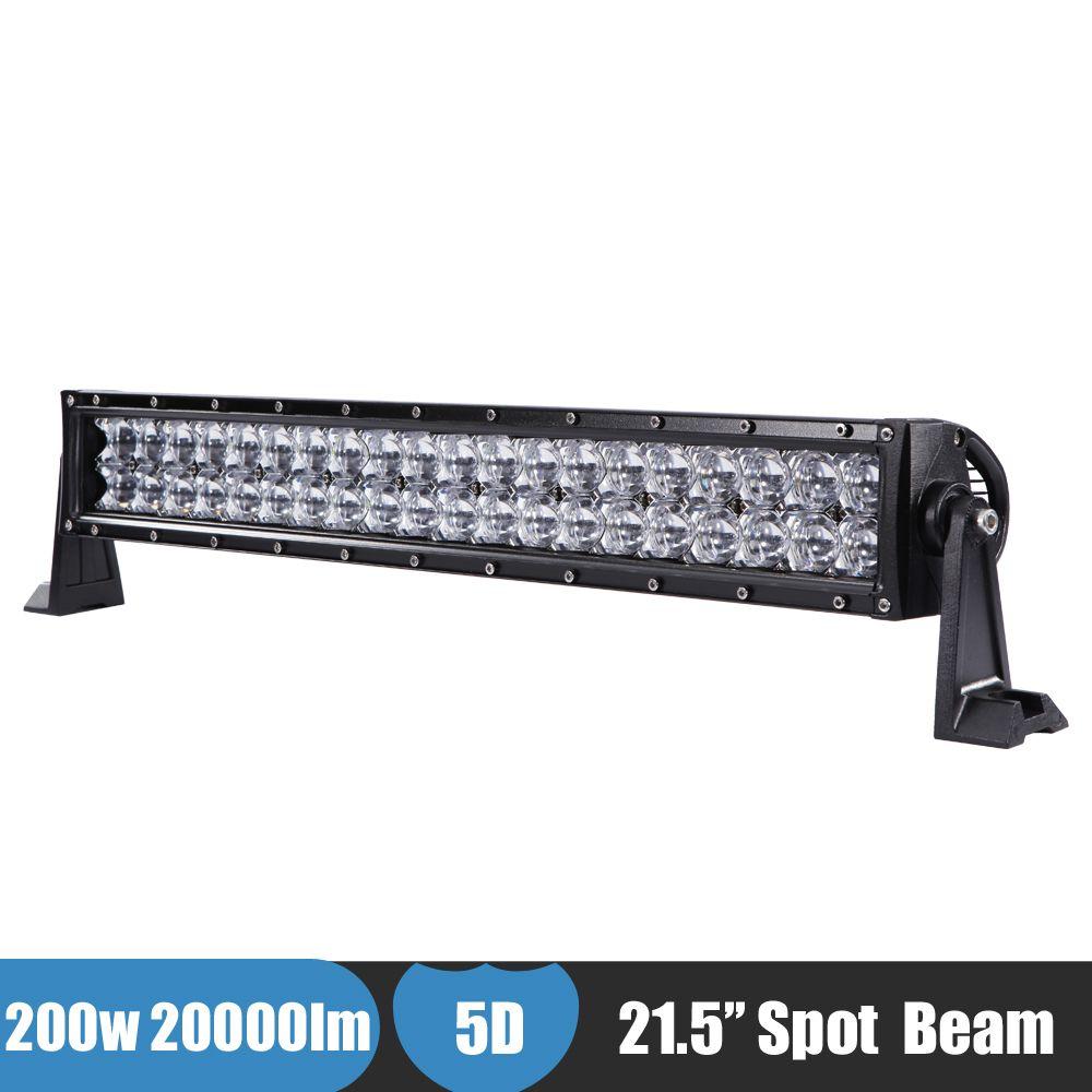 200W 22\'\' Car LED Light 5D Lens Spot Beam Offroad LED Bar Work Light ...
