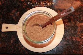 Michelle's Tasty Creations: Pumpkin Pie Spice