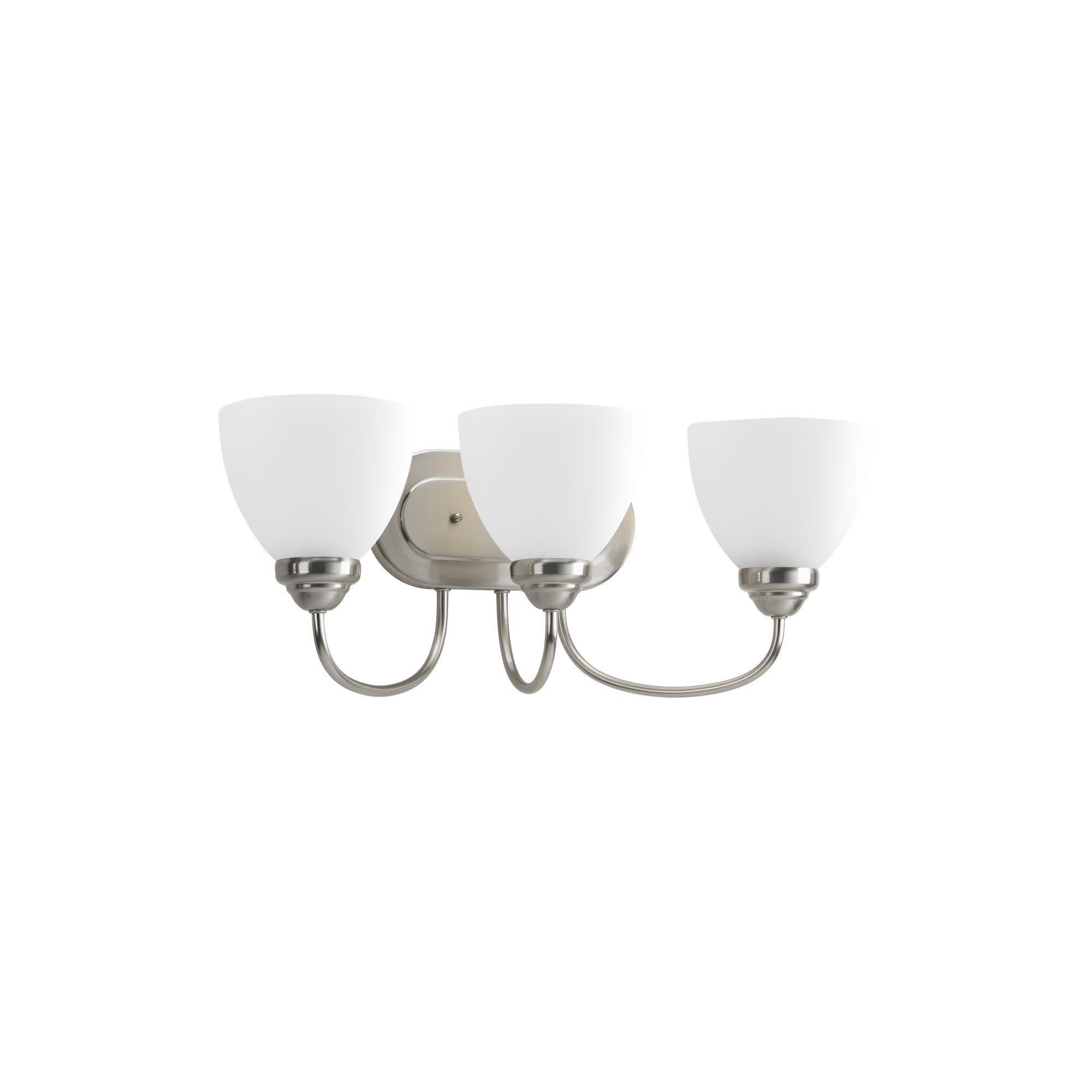 Photo of Progress Lighting P2919 Heart Three-Light Traditional Bathroom Fixture – Brushed Nickel