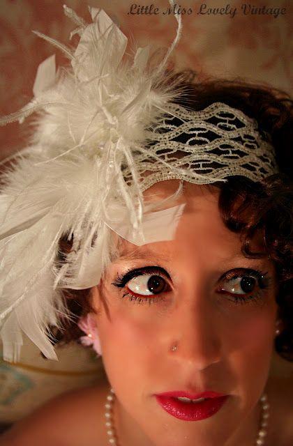 Feathered headband.
