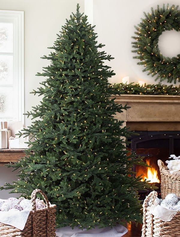 Carolina Hemlock Artificial Christmas Tree Balsam Hill @balsamhill