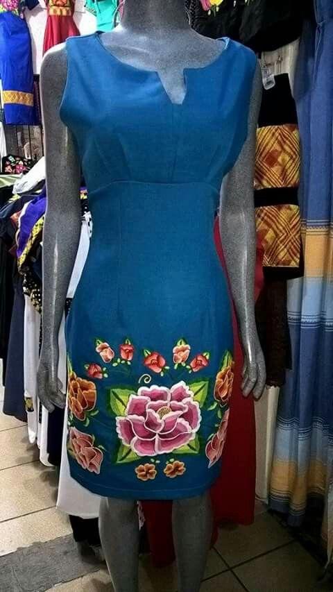 Yucatan En 2019 Ropa Bordada Vestidos Bordados Y