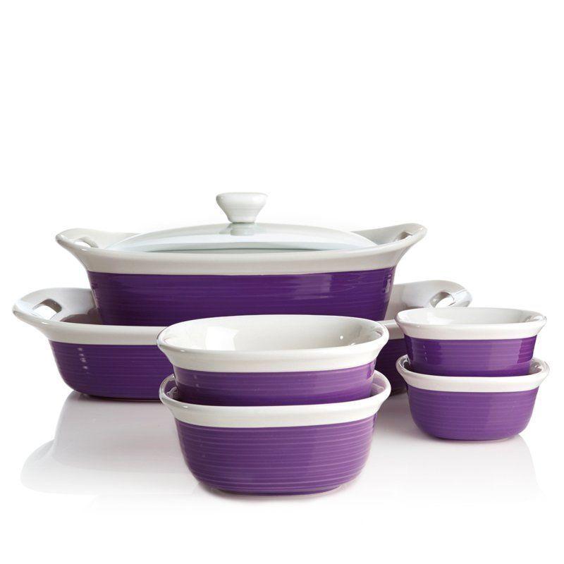 Corningware Etch 7 Piece Bakeware Set Casserole W Glass Lid Dish Ramekin Baking Bakeware Set Corningware Lidded Dish