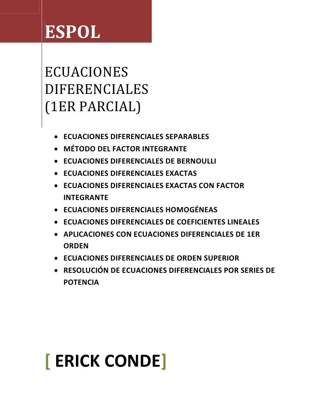 Folleto de ecuaciones diferenciales 1er parcial by erick conde via folleto de ecuaciones diferenciales 1er parcial by erick conde via slideshare urtaz Choice Image