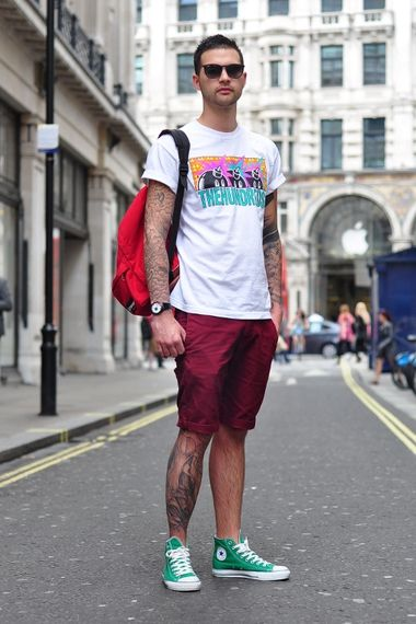 cded724d6f1 Chino shorts and Converse