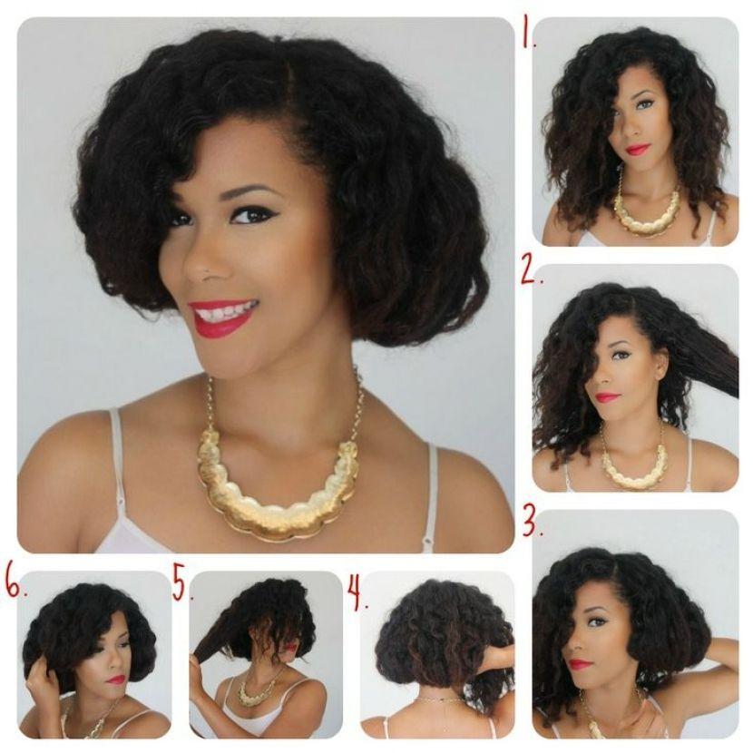 Peinados faciles para cabello sambo