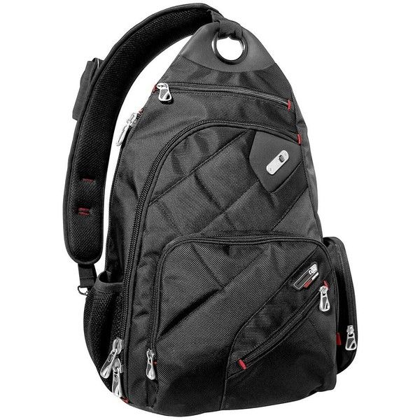 new product 04cab 9273e FUL Brick House 13-Inch Laptop Sling Backpack, Black ( 60) ❤ liked on  Polyvore featuring bags, backpacks, black, sling laptop backpack, mesh bag,  ...
