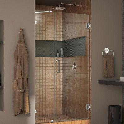 Dreamline Unidoorlux 72 X 42 Hinged Frameless Shower Door With