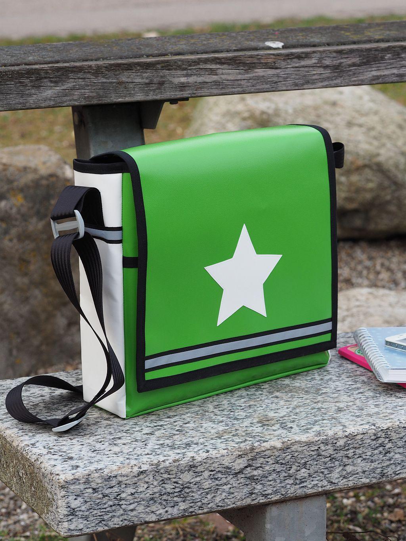 Stern Tasche mit Überschlagdeckel zum Abknöpfen :-) made by Keko ...