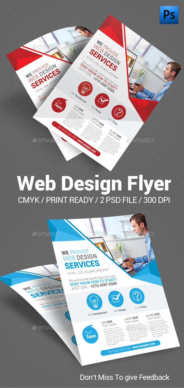 Web Design Flyer  Brochures Flyer Template And Mockup