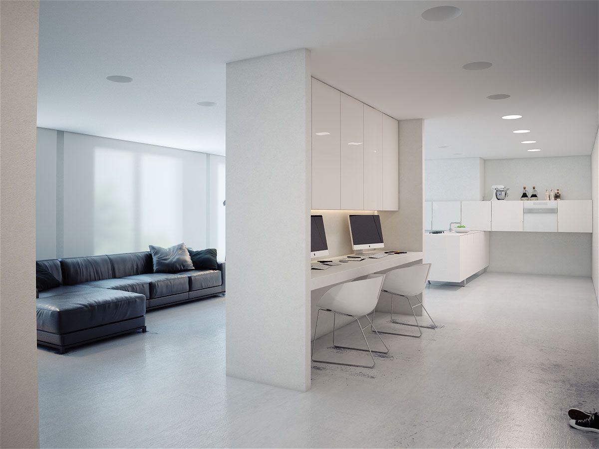 Картинки квартира студия минимализм мебели
