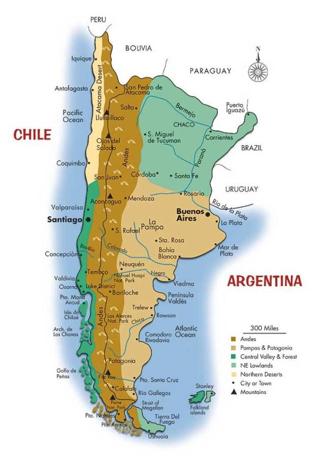 Map Of Argentina And Chile Map of Argentina and Chile | work | Map, Chile, Argentina chile