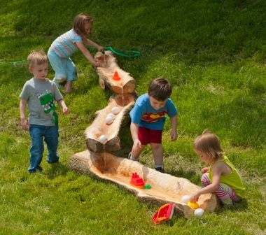 Natural Playground Water Play Idea  Read more about Natural Playgrounds brought to you by Quiet Nature: http://www.quietnature.ca/natural-playgrounds-are-on-the-rise-in-ontario/