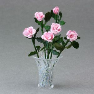 Make miniature reminders of a trip to the beach paper punch paper easy miniature projects to make six miniature paper roses made with a heart shaped paper mightylinksfo