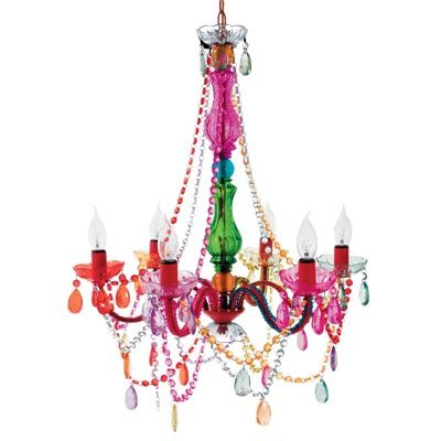 Multicoloured and fabulous - This Gypsy Chandelier adds the perfect touch of mismatched Chic to your space.