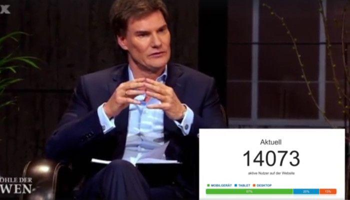 Live-Analytics während des Löwen-Pitches - das Pflanzen-Startup EVRGREEN.de hat…