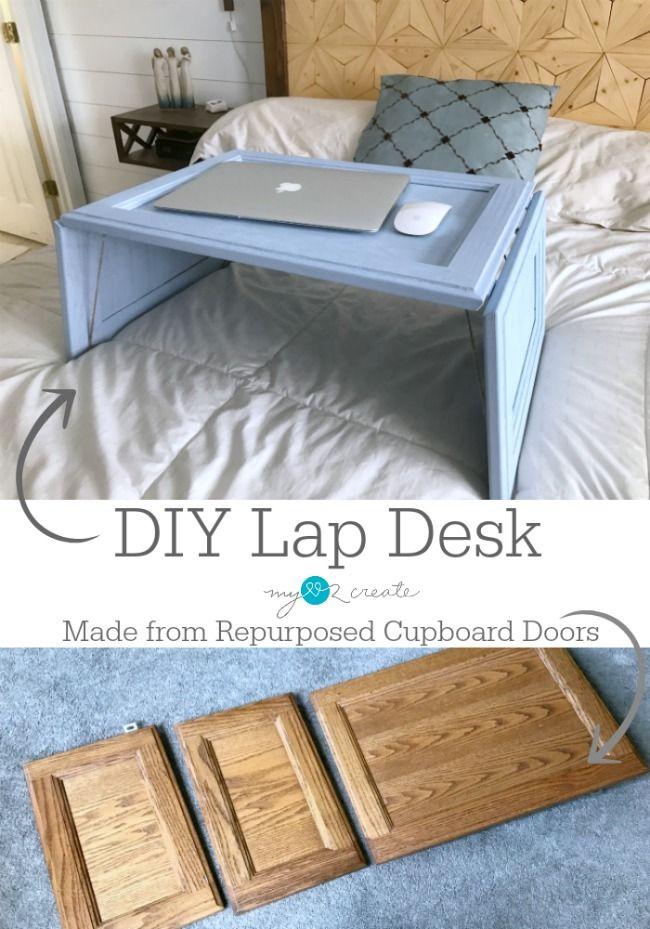 Repurposed Cupboard Door Lap Desk My Repurposed Life Rescue Re Imagine Repeat Repurposed Furniture Diy Furniture Design Inspiration Repurposed Furniture