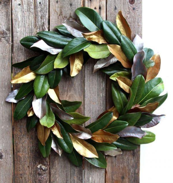Photo of Simple & free DIY magnolia wreath