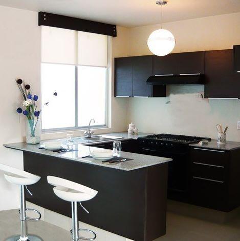 Barra cocina cocina cocinas peque as decoracion de for Cocinas modernas pequenas para apartamentos con desayunador