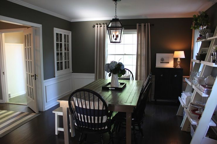 Dining Room Walls Gray Dark Floors