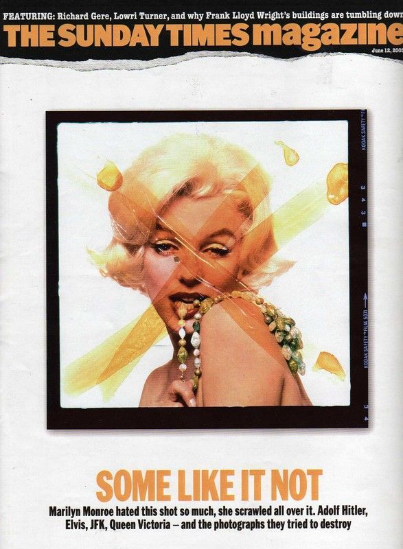 The Sunday Times Magazine - June 12th 2005, magazine from United Kingdom. Front cover photo of Marilyn Monroe by Bert Stern, 1962.