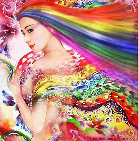 женщина-радуга